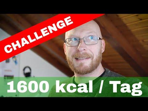 Meine Challenge für 4 Wochen: maximal 1600 kcal pro Tag zuführen