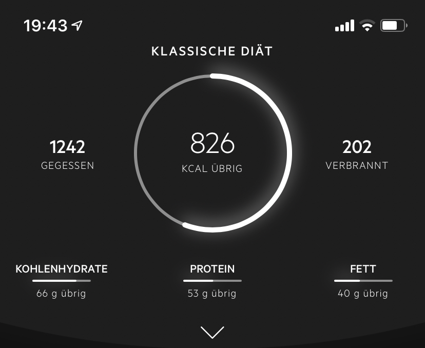 Kalorien zählen mit Lifesum