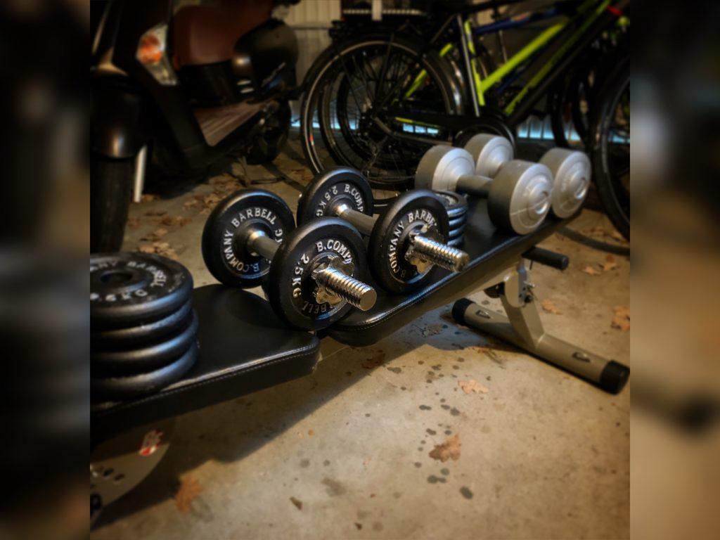 """Mein """"mobiles"""" Home-Gym in der Garage"""